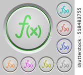 function color icons on sunk... | Shutterstock .eps vector #518483755
