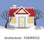 Vector Illustration With House...