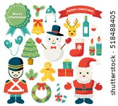 christmas illustration set | Shutterstock .eps vector #518488405