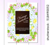 invitation with floral... | Shutterstock .eps vector #518490052