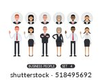 business people set 4 isolated... | Shutterstock .eps vector #518495692