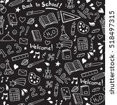 back to school seamless vector... | Shutterstock .eps vector #518497315