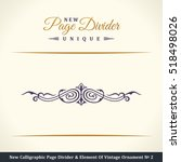 new calligraphic page divider... | Shutterstock .eps vector #518498026