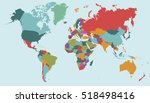 world map countries. world map... | Shutterstock .eps vector #518498416