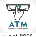 atm   automated teller machine | Shutterstock .eps vector #518500585