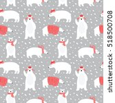 seamless pattern with cute... | Shutterstock .eps vector #518500708