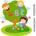 children and abc | Shutterstock .eps vector #51850240