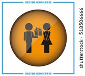 man and woman  gift box icon... | Shutterstock .eps vector #518506666