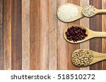 top view of seed on spoon... | Shutterstock . vector #518510272