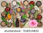 flower and herb selection used... | Shutterstock . vector #518514832