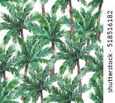watercolor exotic seamless... | Shutterstock . vector #518516182