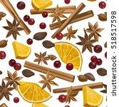 christmas winter spice....   Shutterstock .eps vector #518517598