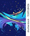 abstract colorful element on... | Shutterstock .eps vector #518518426
