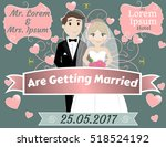 wedding celebration  mr and mrs ... | Shutterstock .eps vector #518524192