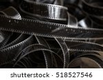 old film strip on the floor | Shutterstock . vector #518527546