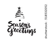 christmas card template. hand... | Shutterstock .eps vector #518532052