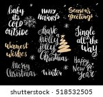 set of christmas card template. ... | Shutterstock .eps vector #518532505