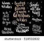 set of christmas card template. ... | Shutterstock .eps vector #518532832