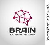 brain logo. brain icon.... | Shutterstock .eps vector #518533786