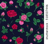 floral seamless pattern with... | Shutterstock . vector #518537446