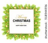 Merry Christmas Frame With...