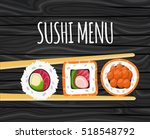 sushi  japanese food on a... | Shutterstock .eps vector #518548792