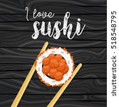 sushi  japanese food on a... | Shutterstock .eps vector #518548795