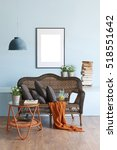 blue wall interior concept and... | Shutterstock . vector #518551642