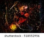 digital grid series. backdrop... | Shutterstock . vector #518552956