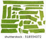 collection of green adhesive... | Shutterstock . vector #518554372