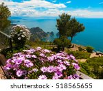 view from a cliff on the island ... | Shutterstock . vector #518565655