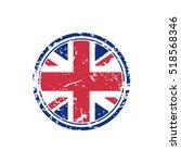 great britain grunge rubber... | Shutterstock .eps vector #518568346