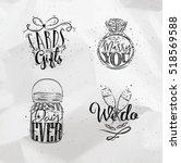 Wedding Symbols Lettering Cards ...