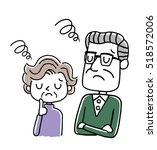 senior couple  disappointed ... | Shutterstock .eps vector #518572006