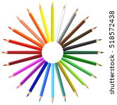 color pencils in the shape of a ... | Shutterstock .eps vector #518572438