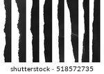 collection of black paper... | Shutterstock . vector #518572735