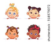 funny cartoon collection of... | Shutterstock .eps vector #518575072