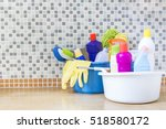 house cleaning product on the... | Shutterstock . vector #518580172