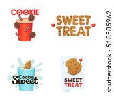 set confectionery banners ... | Shutterstock .eps vector #518585962