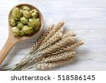 beer raw materials on rustic... | Shutterstock . vector #518586145