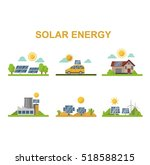 sun solar energy vector set. | Shutterstock .eps vector #518588215