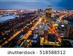 Boston Downtown At Night.