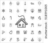 home icon on the white... | Shutterstock .eps vector #518591005