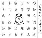 santa sack icon on the white... | Shutterstock .eps vector #518593495