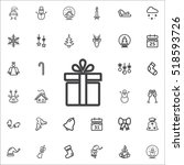 gift box icon on the white... | Shutterstock .eps vector #518593726