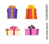 gift box vector collection | Shutterstock .eps vector #518598385