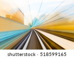 speed motion in urban highway... | Shutterstock . vector #518599165