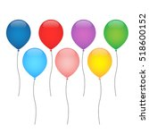 colorful balloons vector... | Shutterstock .eps vector #518600152