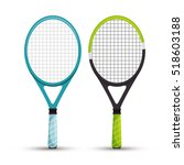 two racket tennis sport graphic | Shutterstock .eps vector #518603188