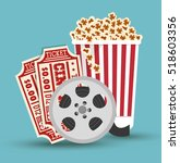 set cinema movie icon design | Shutterstock .eps vector #518603356